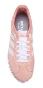 Tênis adidas Vl Court Feminino - Pink E Branco Frete Gratis