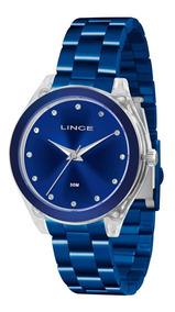 Relógio Lince Feminino Azul Lra4431p D1dx