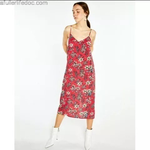 Vestido Juvenil Midi De Tirantes Talla Chico