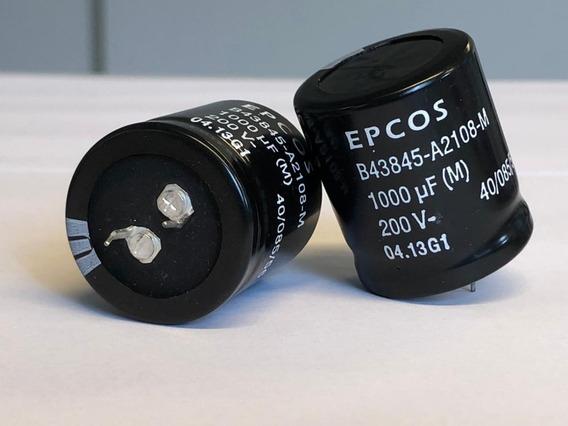 Capacitor Eletrolitico 1000uf/200v Epcos - Usado Kit C/ 10