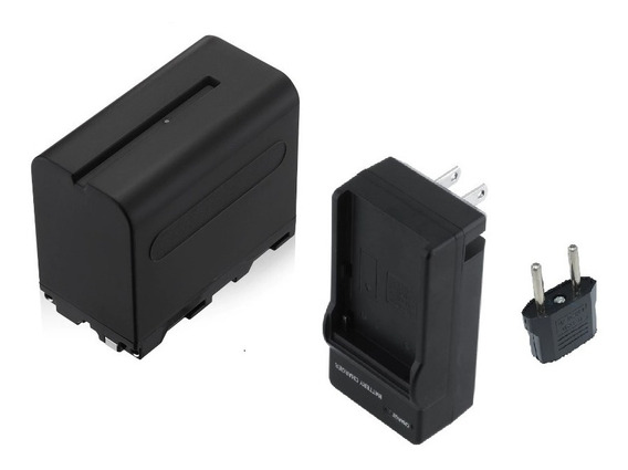 Bateria Np- F970 P/ Iluminador Led - 7200mah + Carregador
