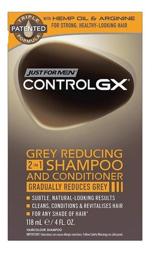Shampoo Y Acondicionador 2 En 1 Control Canas Hombre W01