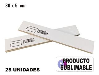 50 Cartones Blancos Sublimables Medida Regla 30x5 Cm