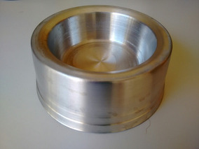 Comedouro Para Cães E Gatos Aluminio E Cimento Pes. Kit C/2
