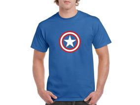 Camiseta Estampada Capitán América