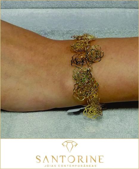 Semijoia - Pulseira - Banhados Ouro - Unidade