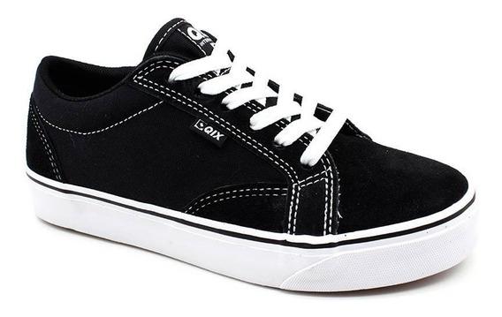 Tênis Qix Shoes 109301 Skate Lona Preto Loja Pixolé
