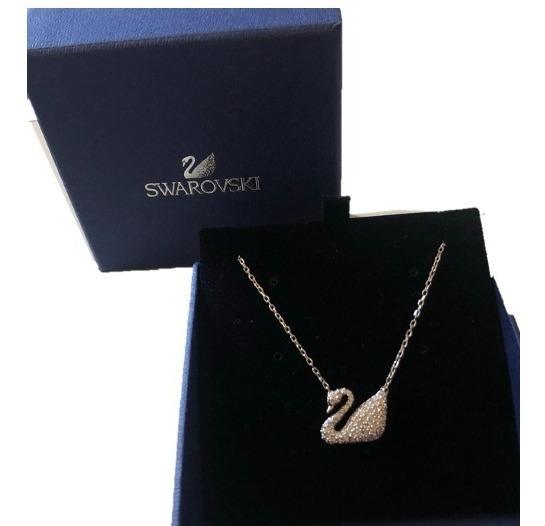 Collar Swarovski Swan De Plata