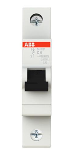 Breaker Abb Riel Sh200 1p 6 A10ka 120vac-1f Vmax:253vac