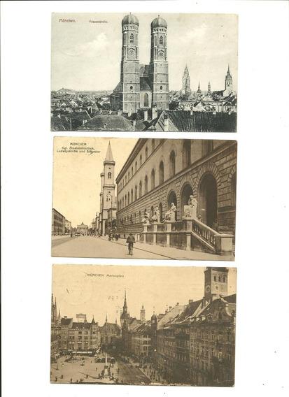 Alemania: 3 Tarjetas Postales Año 1910 (munich)