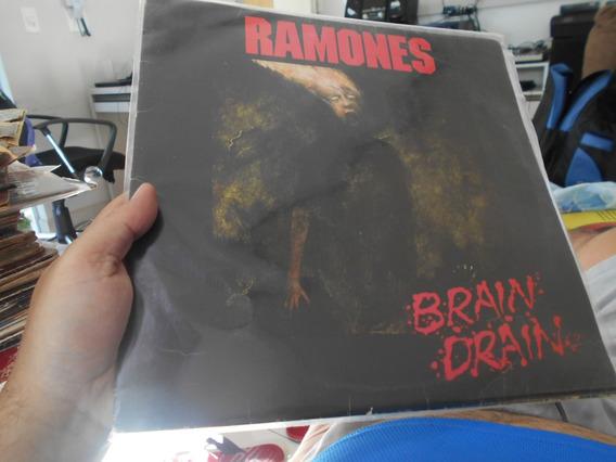 Lp - Ramones - Brain Drain - C/ Encarte - Original Exceletne