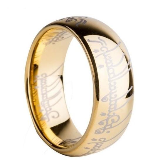 O Um Anel Senhor Dos Anéis - Banhado A Ouro Titânio