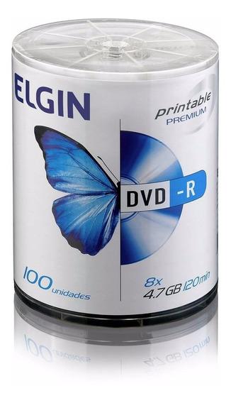 100 Dvd Printable Elgin 82068 Original Branco Imprimivel
