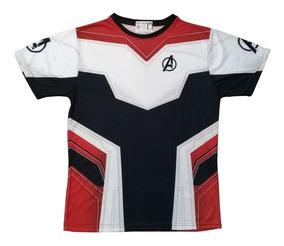 Camiseta Avengers Traje Cuantico End Game Marvel Adultos