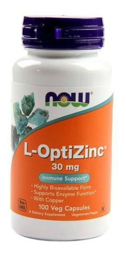 L-optizinc - Now Sports-100 Caps- Envio Em 24 Horas