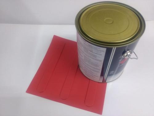 80 Pçs Piso Direcional Vermelho Pvc + 1 Lata Cola 2.8kg