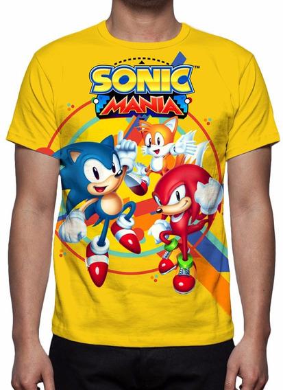 Camisa, Camiseta Sonic Mania - 2017 - Estampa Total