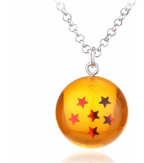 Colar Cordão Dragon Ball Z Goku Esfera Do Dragão 6 Estrelas