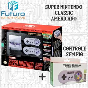 Super Nintendo Classic Mini Original + Controle Sem Fio Extr