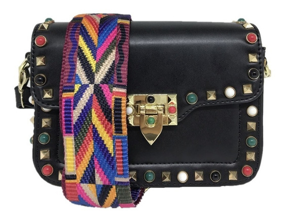 Bolsa Feminina Casual Alça Colorida - 8317