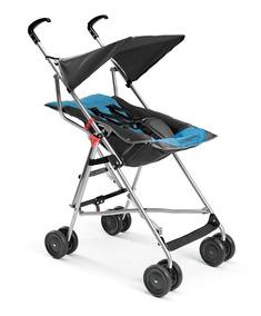 Carrinho De Bebê Pocket Azul Com Preto Multikids Baby