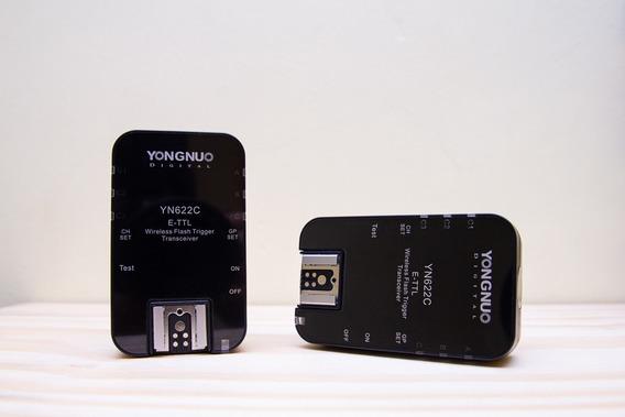 Radio Flash Yn622c Yongnuo Para Canon (par)
