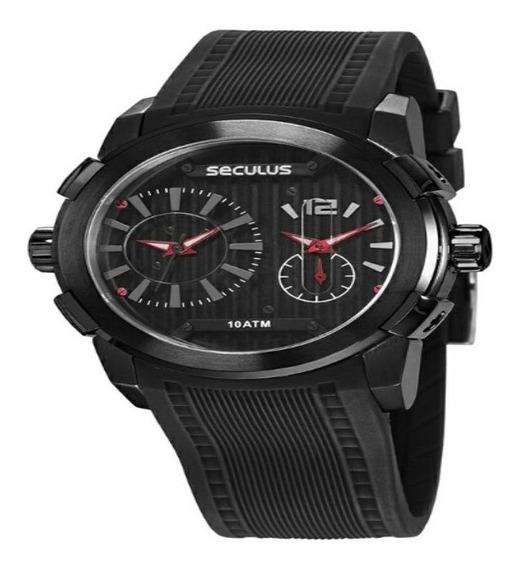 Relógio Seculus Masculino Esportivo Preto 35005gpsvpu1