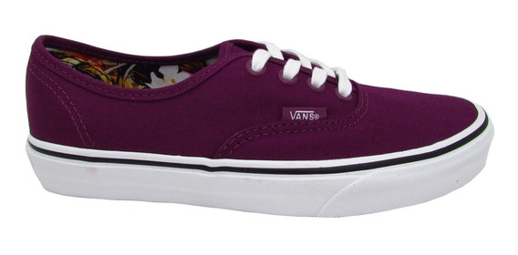 Tenis Vans Authentic Vn0a38emmot Cuban Floral Dark Purple