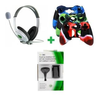 Audifonos Gamer Xbox 360 Funda Xbox 360 Kit Carga Xbox 360