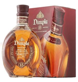 Whisky Dimple 15 Años Con Hilo De Oro En Estuche Escoces