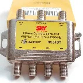 Chave Comutadora 3x4 Sky