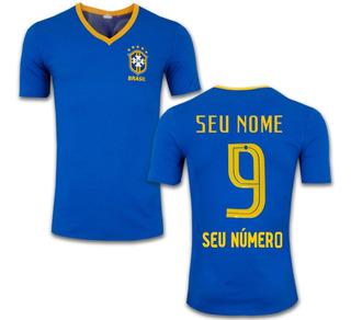 Camisa Seleção Brasileira Personalizada Amarela