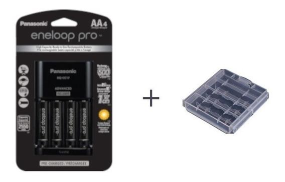 Pilha Recarregavel Eneloop Pro Kit C/ 4aa E Carregador+case