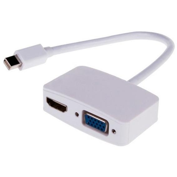 Mini Displayport 2 Em 1 Vga + Hdmi Adaptador Macbook Air Pro
