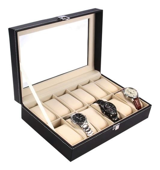 Estuche Relojes Caja Exhibidor Alajero Reloj 12 Piezas Relojo