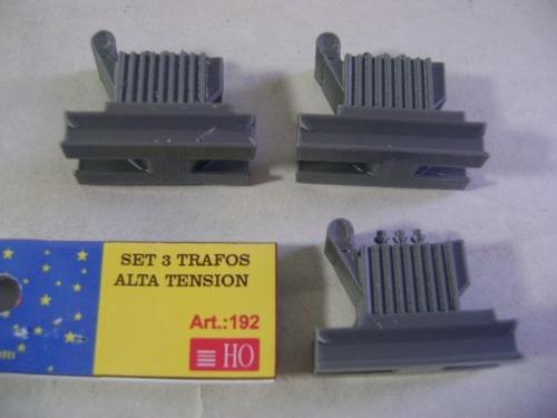 Imagen 1 de 10 de Nico 3 Trafos Alta Tension Carg Miniature World H0 (mntw 73)