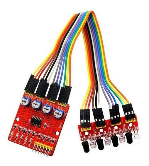 Sensor Seguidor De Linha Infravermelho De 4 Canais - Arduino