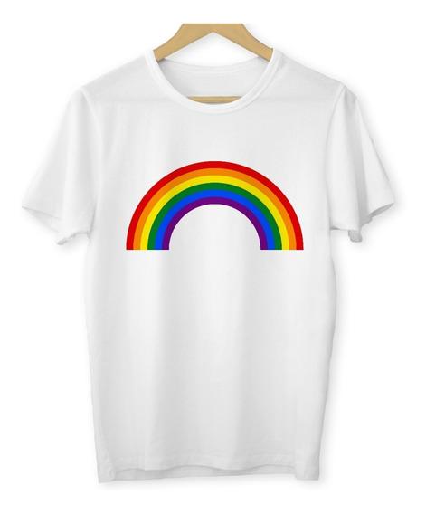 Camiseta Arco Íris Lgbt Baby Look Feminina Homossexual