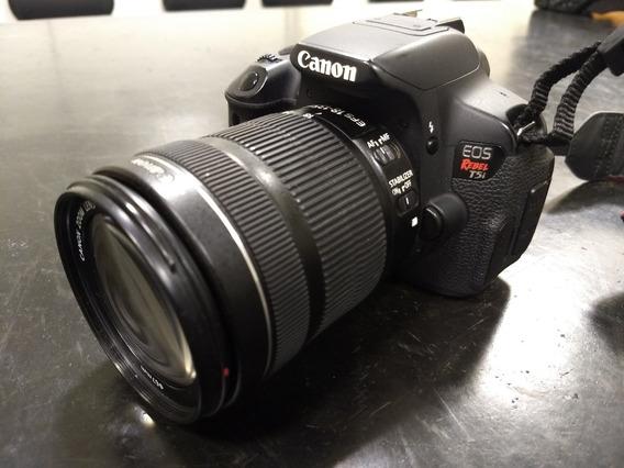 Câmera Canon T5i Com Lente 18-135, Acompanha 2 Baterias.