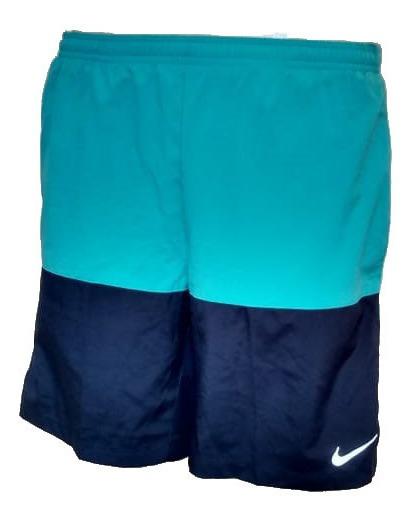 Short Duas Cores Verde E Azul Nike