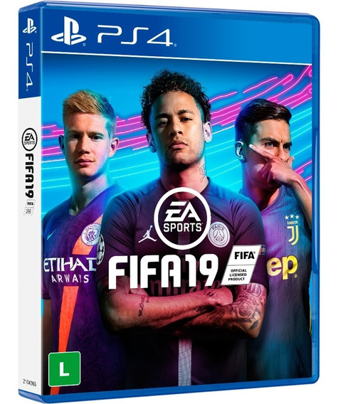 Jogo Playstation 4 - Fifa 19 - Novo Mídia Física - Portugues