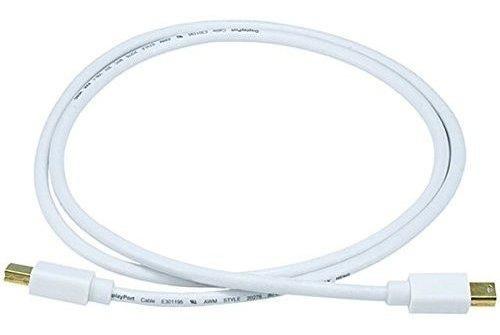 Imagen 1 de 2 de Cable Monoprice De 3 Pies 32awg Mini Displayport - Blanco