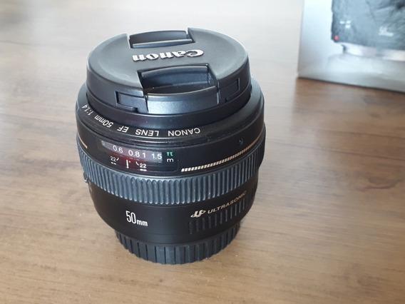Lente Canon 50mm F/1.4 Usm+ Parasol
