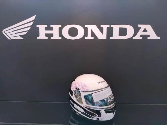 Capacete Honda Hfs Feminino Branco/rosa Tamanho 58