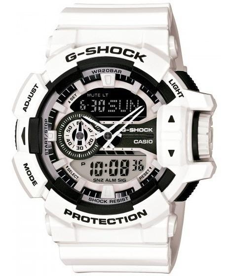 Relógio Casio Ga-400-7adr Masculino Branco - Refinado