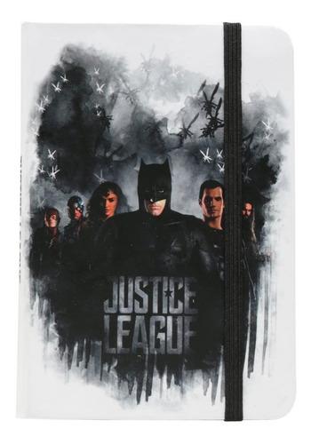 Caderneta Anotacao Moleskine Liga Da Justiça Branco 100fls