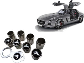 Bico De Pneu Cromado Mercedes Benz