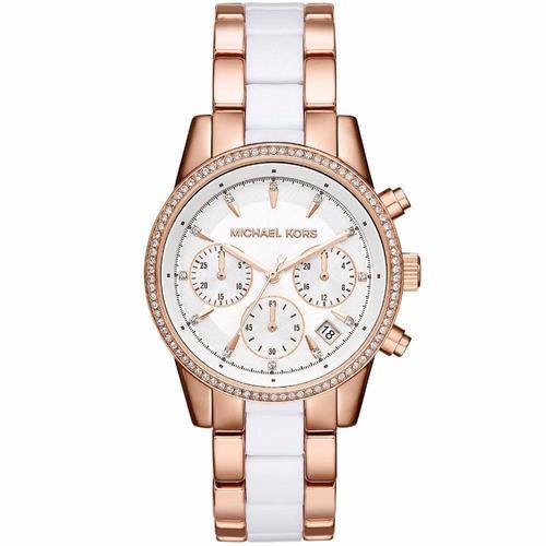 Relógio Michael Kors Feminino Ritz Mk6324/5bn Rose Branco