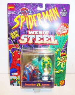 Toy Biz Spiderman Vs Vulture Die Cast Metal Marvel 1994