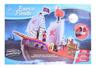Barco Pirata Con Muñecos El Duende Azul Tipo Playmobil Full
